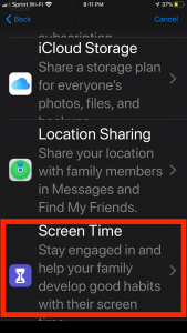 ScreenTime in iOS 13