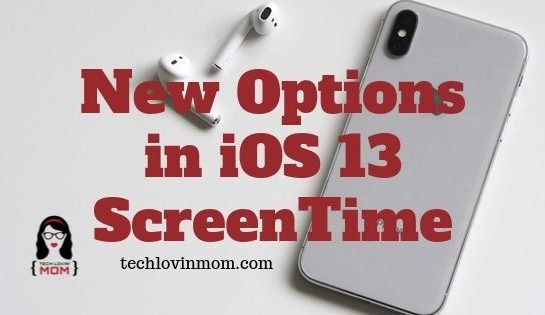 New Options in iOS 13 ScreenTime